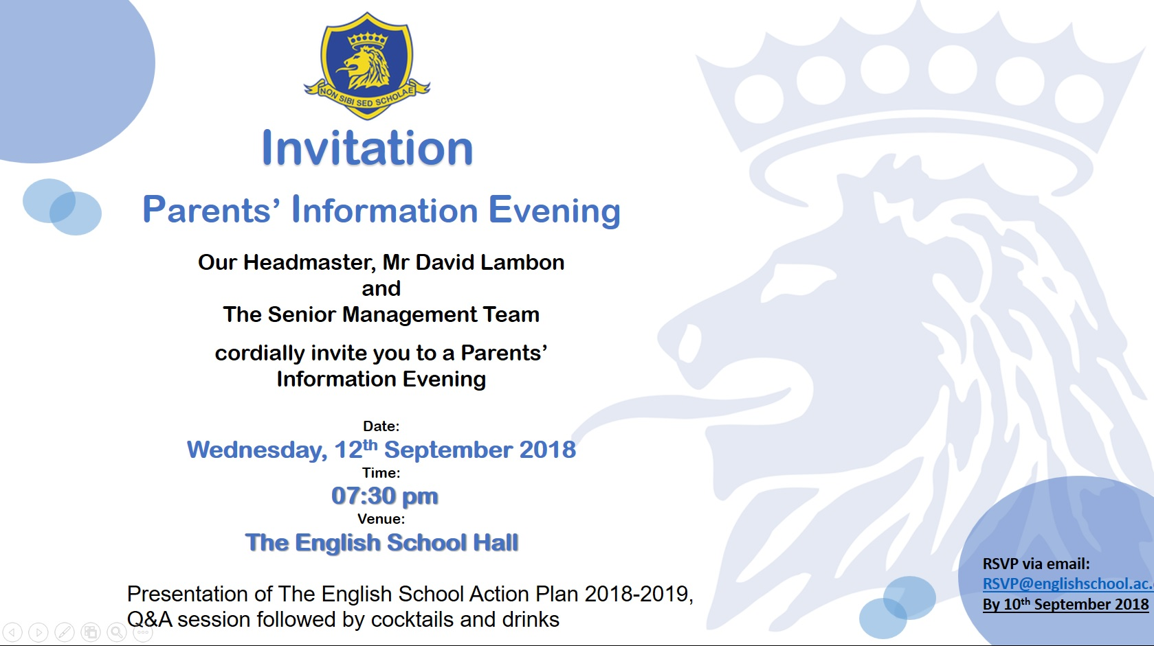 Event Details New The English School A Second Century Of Excellence