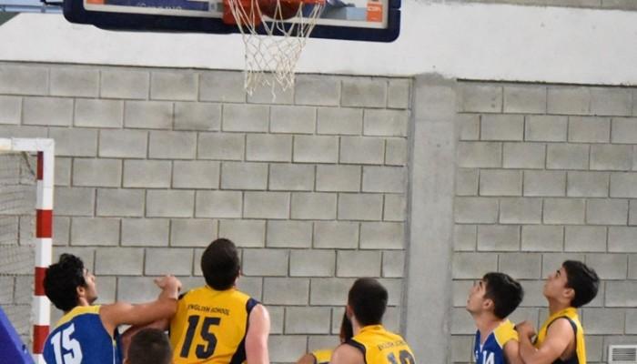 Senior Boys Basketball Team in Action