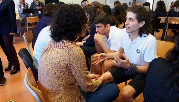 "Israeli Task Force visit The English School as part of the ""Living Together"" Project"