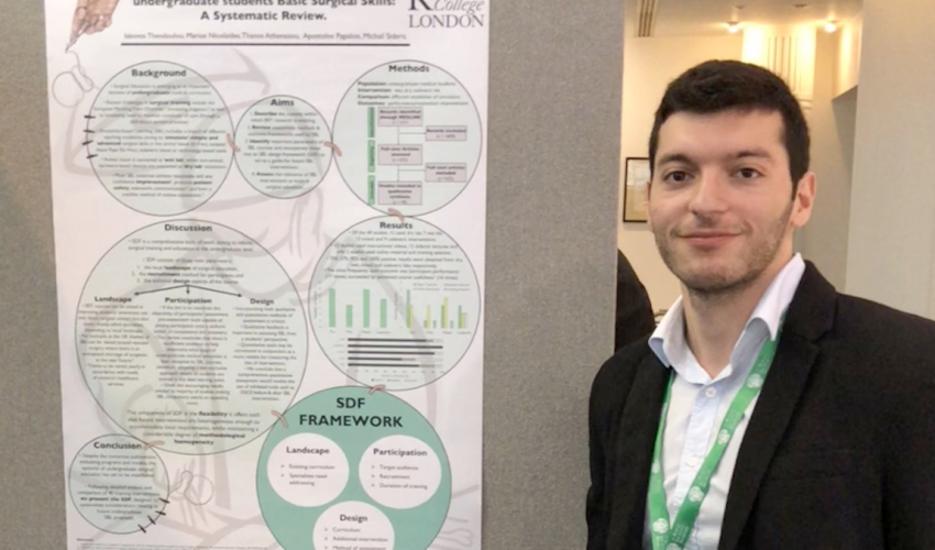 Iakovos Theodoulou, English School Graduate 2012, receives 'Best Research Presentation' Award